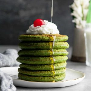 St. Patrick's Day MATCHA GREEN TEA PANCAKES